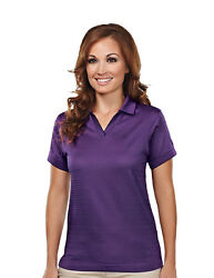 Tri-mountain Womenand039s Polyester Johnny Collar Short Sleeve Golf T-shirt. 402