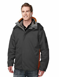 Tri-mountain Men's Water Resistant Shell Hooded Casual Winter Jacket. 6850