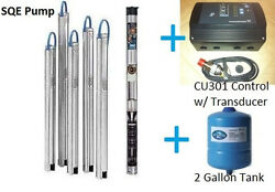 Grundfos 3 Constant Pressure Submersible Well Pump 15sqe07 180 3/4hp Cu301 Kit