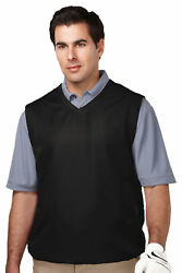 Tri-mountain Menand039s Big And Tall V-neck Crossover Collar Wind Vest. J2612-tall