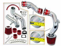 Red Cold Air Induction Intake+dry Filter For 00-01 Sentra Se Sedan 2.0l Dohc