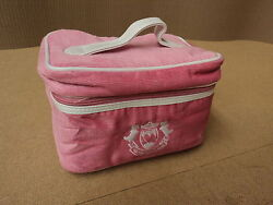Designer Cosmetic Bag 6in D x 9in W x 6in H Corderoy Female Adult Pink Solid $16.45