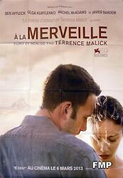 A La Merveille - To The Wonder - Terrence Malick - Style C Advance French Poster