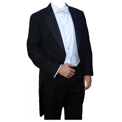 Poly-wool White Tie Tailcoat 42 Long