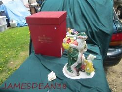 Waterford Holiday Heirlooms Letter To Santa Cookie Jar And Box