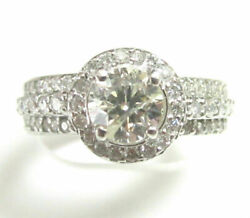 2.71 Tcw Round Diamond Solitaire Engagement Ring G Si2 Size 6.5 14k White Gold