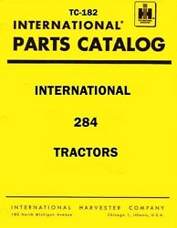 International Harvester 284 Tractor Chassis Parts Catalog Manual Ih