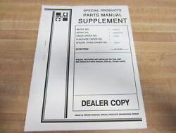 Hyster E100xl2s Special Products Parts Manual Dealer Copy Pack Of 6 - Used