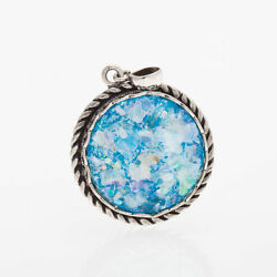 Great 925 Sterling Silver Ancient Roman Glass Pendant Unique-jewelry
