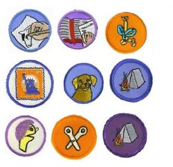 Merit Badge Patches Award Scouts Uniform Lot of 4 SELECT YOUR DESIGN!
