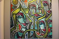 Original Oliveira Painting 36x36 On Stretched Canvas. The Shine Conception
