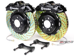 Brembo Front GT Brake BBK 6pot Black 380x32 2pc Drill Disc Rotor Mustang 05-13
