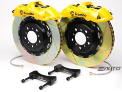 Brembo Front GT Brake 6pot Yellow 380x32 Drill Rotor Mustang GT500 GT Boss 302