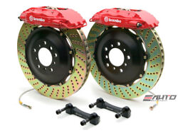 Brembo Front GT Brake 4pot Caliper Red 355x32 Drill Disc for G35 350Z Fairlady