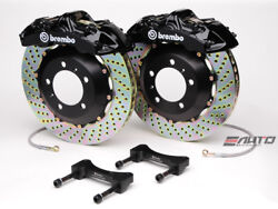 Brembo Front GT BBK Brake 6piston Black 355x32 Drill Disc for G35 350Z Fairlady