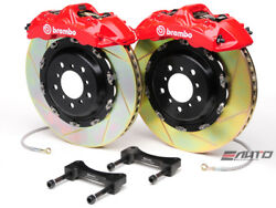 Brembo Front GT Brake 6pot Caliper Red 380x32 Slot Disc for G35 350Z Fairlady