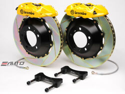 Brembo Rear GT Brake 4pot Caliper Yellow 345x28 Slot Rotor for G35 350Z Fairlady