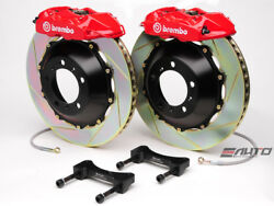 Brembo Rear GT Brake 4pot Caliper Red 345x28 Slot Rotor for G35 350Z Fairlady