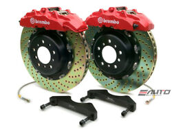 Brembo Front GT Brake 8pot Red 380x34 Drill Rotor for QX56 ARMADA TITAN 04-07
