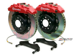 Brembo Front GT BBK Brake 8P Caliper Red 380x34 Slot for QX56 ARMADA TITAN 04-07