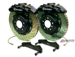 Brembo Front GT Brake 8pot Black 380x34 Drill Rotor Grand Cherokee SRT-8 06-11