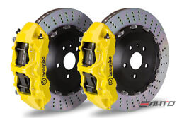 Brembo Front GT Brake 6pot Caliper Yellow 405x34 Drill Rotor RANGE ROVER 03-09