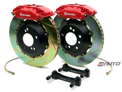 Brembo Rear GT BBK Brake 4pot Red 328x28 Slot Rotor for Benz W204 C204 C207 A207