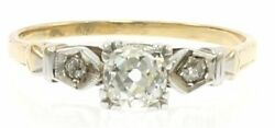 Antique Diamond Engagement Ring In 14kt Two-tone Gold