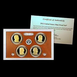 2012 S Presidential Mint Proof Set With Coa Arthur Harrison Cleveland 22 And 24