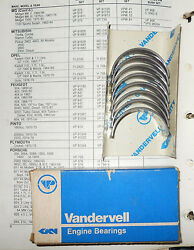 Nos Connecting Rod Bearings Vp91529. Std. Ford Lima 140 Cu Inch / 2.3l Engine -