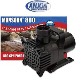 Anjon Ms800 Monsoon Hybrid Drive Submersible Pond And Water Feature Pump - 800 Gph