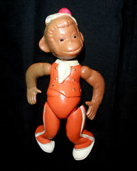 1950s Ussr Russian Soviet Celluloid Toy Doll Cheerful Monkey