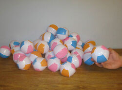 3 NEW MULTI COLORED MINI BEACH BALLS 5quot; INFLATABLE POOL BEACHBALL PARTY FAVORS $5.25