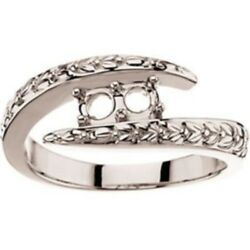 Custom Made Two-stone Mothers Ring In 10kt White Gold, Choose Your Stones