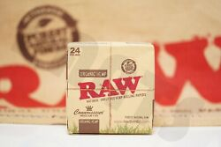 Full Box 24 Packs Of Authentic Raw Rolling Paper Organic Connoisseur King Size