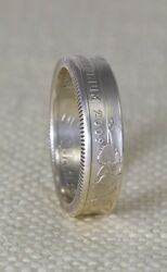 2009 90 Silver Proof Us Quarter Dollar 3d Coin Ring Wedding Band 5 Year Gift