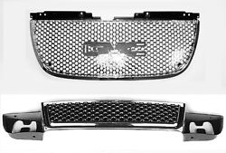 2007-13 Gmc Yukon Denali Upper And Lower Grille Upgrade Kit - 22761715 And 15264513