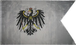 3x5 Kingdom Of Prussia War And Civil Ensignia 1892-1918 Germany Flag 3and039x5and039