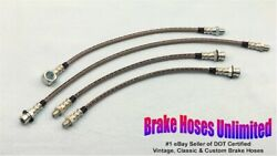 Stainless Brake Hose Set Oldsmobile 88 And 98 1954 - With Power Brakes