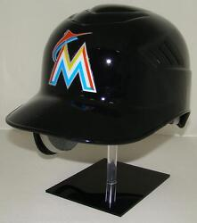 Miami Marlins Black Rawlings Coolflo Full Size Official Batting Helmet - Lefty