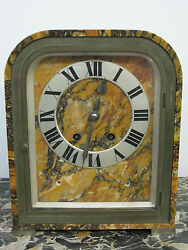 And Co. Art Deco Marble Clock