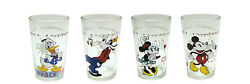 New Disney Mickey Mouse Minnie Donald Collectible Juice Glasses Set Of 4 Nib