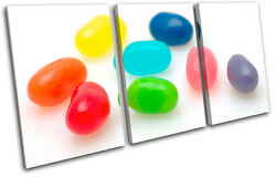 Jelly Beans Sweet For Kids Room Treble Canvas Wall Art Picture Print Va