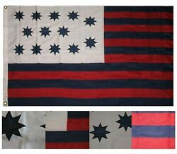 3x5 Embroidered Guilford Courthouse 600d Nylon 2ply Flag 3'x5'