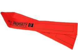 Property Of Ribbon - 1.5 Neon Orange Grosgrain - Great For Luggage And Labels