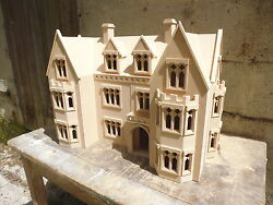Dolls House 1/12 Scale Large House The Draycott Gothic Manor 4ft Wide Kit By Dhd