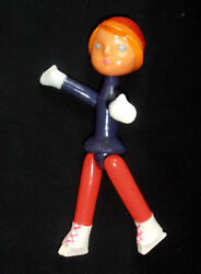 1970s Ussr Russian Soviet Celluloid Toy Doll Young Figure Skater Girl