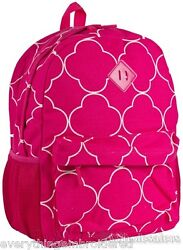 Personalized Backpack Book Bag Pink Geometric Pattern Initial s NameFree 16x12quot; $39.99