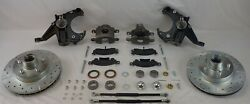 Chevrolet C10 Chevy Truck 2 Inch Drop Spindle Brake Kit 5 Lug D 1971-1972