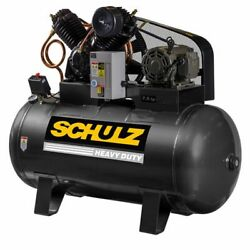 Schulz V-series 7.5-hp 80-gallon Two-stage Air Compressor 208v 3-phase